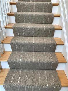 Carpet Runners Home Depot Canada Diy Carpet, Beige Carpet, Patterned Carpet, Carpet Ideas, Stairway Carpet, Carpet Stairs, Striped Carpet For Stairs, Basement Carpet, Hallway Carpet