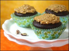 They're ooey-gooey-good! They'd have to be... it's in the name. Try these Gooey-Good German #Chocolate #Cupcakes!