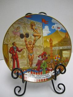 Ringling Bros Barnum Bailey Flamboyance of the Circus The Midway Side Show Plate