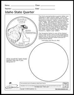 Idaho State Quarter Worksheet