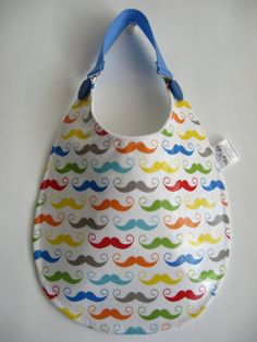 Baby Bib, Toddler Bib, Infant Bib, Plastic Bib, Waterproof Bib, Feeding Bib, New Baby Gift, New Mom Gift, Mustache Bib, Gender Reveal Gift