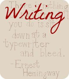 Pinterest Writing Header - originally from the Hemingway-Pfeiffer Museum & Educational Center blog/website.