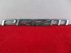 "1993-1997 Geo ""Prizm"" Chrome Plastic Trunk Emblem OEM   #Geo #Prizm #Emblem #OEM #Original #Trunk #Plastic #Decal #Cars #Parts #eBay"