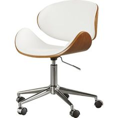 Inspire creative work flow with this unique, contemporary design. Features include: contrasting colors, natural grains, a chrome base and a patented gas lever adjustable seat. Home office ergonomics have never been so stylish or comfortable.
