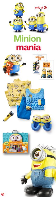 It's true Minion Mania this Christmas! These mischievous, lovable Minions are showing up everywhere—on everything from toys, movies and clothes to coloring books, slippers and more. These hilarious, yellow creatures will melt your heart and have you laughing at all their crazy antics.