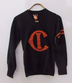 Vintage Wool College Varsity Letter Sweater