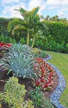 Landscape Designer Palm Beach - Colorful Landscapes - Front Yard - Back Yard Florida Landscaping, Florida Gardening, Tropical Landscaping, Landscaping With Rocks, Front Yard Landscaping, Landscaping Ideas, Luxury Landscaping, Landscaping Company, Tropical Garden Design