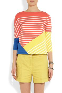 Boy. by Band of Outsiders|Striped color-block cotton top|NET-A-PORTER.COM