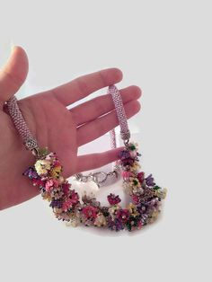 Free shipping SUMMER SALE Bead crochet necklace by SERMINCEJEWELRY