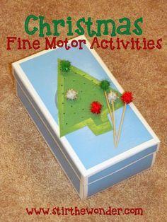 Christmas Fine Motor Activities   Stir the Wonder #kbn #finemotorfridays #finemotor #christmas