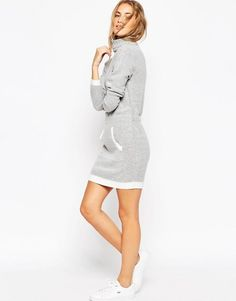 Shop ASOS Dress in Knit with Front Pocket and Contrast Trims at ASOS.  Discover Fashion Online