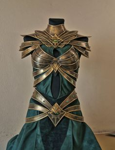 Woodland Realm attire fit for a warrior queen (designer credit: Aldafea - Deviant Art.)