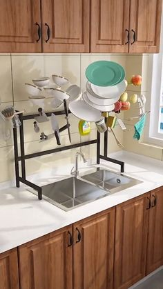 Use this dish drying rack over the sink or on the counter, save tons of space and time by making it easier to access utensils and supplies, water will drop into the sink directly, make your kitchen more clean and tidy. GREAT FOR HOME