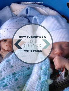 Preparing to travel or awaiting daylight savings?  This post has useful tips how to shift your twins' sleep schedule ahead of the time change to minimize any over- tiredness and disruption to your routines.