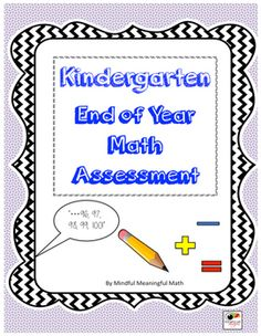 Based on the end of year Kindergarten standards, this assessment captures most of the major standards through both an interview and student written work that can be done individually, in a small group or as a whole class.  It includes a teacher master page, the materials you would need to assess, as well as a student record page.