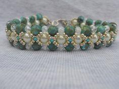 The So Chic bead woven bracelet by ImaBraceletgirl on Etsy, $20.00