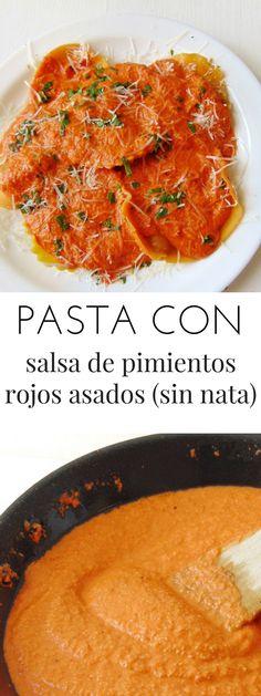 salsa de pimientos asados para pasta 🌶