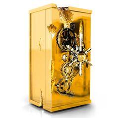 Millionaire Safe from Portuguese designers Boca do Lobo #gold #wood