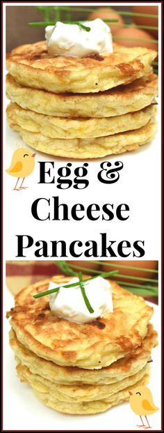 Perfectly Simple & Delicious Savory Egg and Cheese Pancakes / Griddlecakes | Savory Pancakes | Quick, Easy, Unique Egg Dish | craftycookingmama.com