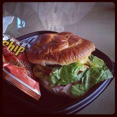 Try the Elwood sandwich on a pretzel roll at Main St. Cafe in #kokomo. Photo by Katie Denta (@Katie Denta on Instagram).