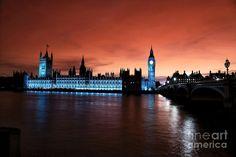 London Red Beauty Photograph Big Ben, Pop Art, Photograph, London, Art Prints, Red, Travel, Beauty, Photography