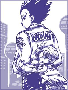 Like father like son #dbz #vegeta #trunks
