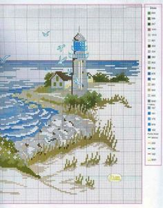 This Pin was discovered by Gül Cross Stitch Sea, Cross Stitch Needles, Cross Stitch Flowers, Cross Stitch Charts, Counted Cross Stitch Patterns, Cross Stitch Designs, Cross Stitch Embroidery, Embroidery Patterns, Cross Stitch Landscape