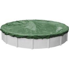 Robelle Next-Gen Titan Ripshield Winter Swimming Pool Cover for Round Above-Ground Swimming Pools, Green