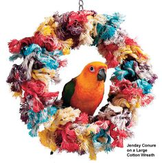 Cotton Wreath Bird Toys