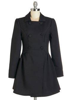 Stats More Like It Coat. From lesson plans to forecasts, you leave nothing to chance - so the probability of wearing this black coat to lecture is 100%! #black #modcloth