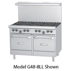 "Drooling...... Garland G48-G48LL 48"" Gas Range with 48"" Griddle and 2 Space Saver Ovens"