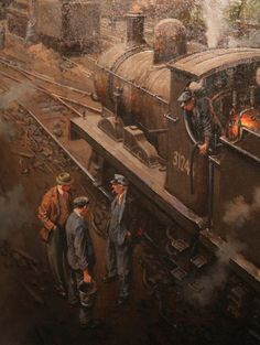 Art of Steam exhibition opens at Darlington museum (From Darlington and Stockton Times) Steam Art, Steam Railway, Train Times, Train Art, Train Pictures, Old Trains, Art Uk, Steam Locomotive, Military Art