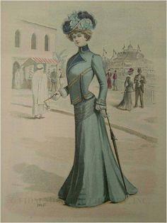 "Fashion Plate extraído de la revista ""La Mode Illustrée"". 1900"