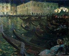 Louis Abel-Truchet - La Festa Del Redentore, Venice