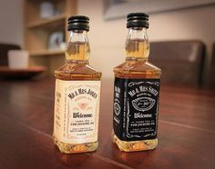 Personalised Wedding Favours Jack Daniels Whiskey Style Labels