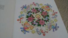 My first Christmas Mandala by a nice Jewish Girl from Creative Haven Christmas Mandalas