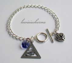 Ooak 'Eye of Horus' CHARM BRACELET Swarovski. NEW