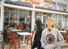 Dunkirk, France, 1992 with Tony Garnier's wife Trisha