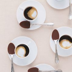 Perfect accessory to coffee, chocolate dipped spoons