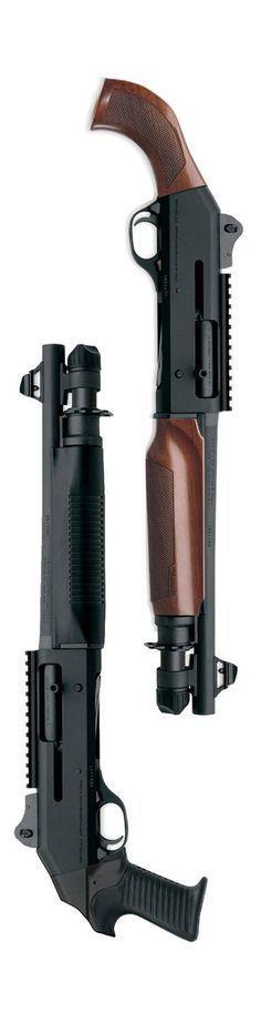 (Pair of Benelli M4 shorty shotties) shotgun, guns, weapons, self defense, protection, 2nd amendment, America, firearms, ammunition, shells, munitions #guns #weapons: