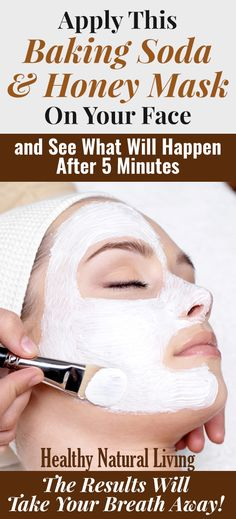 Apply This Baking Soda And Honey Mask On Your Face And See What Will Happen After 15 Minutes – The Results Will Take Your Breath Away! Natural Hair Styles, Natural Hair Mask, Hair Growth, Beauty Hacks, Eyes, Personal Care, Face, Honey, Masks