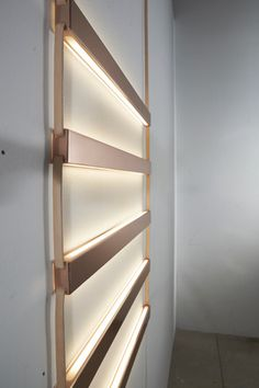 Beautiful Ladder Light Wood Light Fixtures #Concept #Design #LightFixture #Modern #Sconce #Wood 'Ladder Light' took inspiration from jewelry: conceptualizing wood light fixture as decorative and emotive, rather than utilitarian. Hun...
