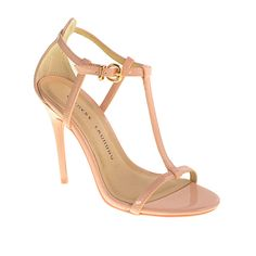 edf3e50ae4e38 Chinese Laundry Leo Patent T- Strap Sandal Strappy Dress Sandals Heels  Color - Softpink