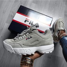 Discovered by v o g u e. Find images and videos about sneakers, Fila and disruptor on We Heart It - the app to get lost in what you love. Fancy Shoes, Trendy Shoes, Cute Shoes, Me Too Shoes, Cute Sneakers, Shoes Sneakers, Apl Shoes, Allbirds Shoes, Sneakers Fashion