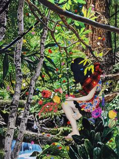 Wonderfully detailed paintings by Japanese artist Naomi Okubo. More images of Okubo's work below! Naomi Okubo's Website Inspiration Artistique, Detailed Paintings, Muse Art, Magic Realism, Art Et Illustration, Sketch Painting, Japanese Artists, Beautiful Artwork, Oeuvre D'art