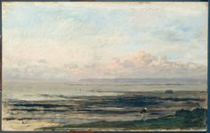 Charles François Daubigny, Beach At Low Tide. 1878