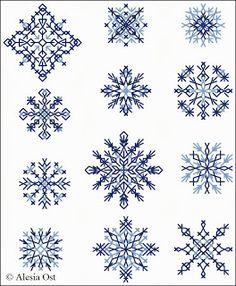 Free cross-stitch patterns, snowflake,  winter, Christmas, cross-stitch, back stitch, cross-stitch scheme, free pattern, x-stitchmagic.blogs...