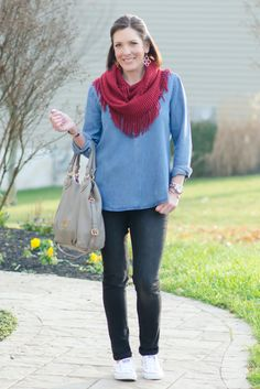 Daily Mom Style: Chambray, Black & Red