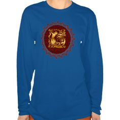 Decorative Golden Christmas Tshirts by Graphic Allusions. #Christmas