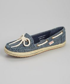 Look what I found on #zulily! Navy Spark Showdown Espadrille Loafer by Sugar #zulilyfinds $22.99, usually 39.00
